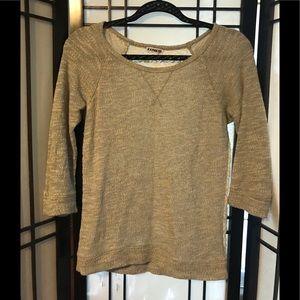 Express lace back shirt sweater